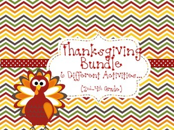 Thanksgiving Bundle-2nd, 3rd and 4th Grade