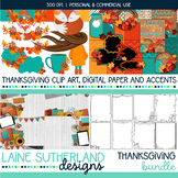 Thanksgiving Clip Art, Digital Paper and Accents by ALPOA Clip Art Designs