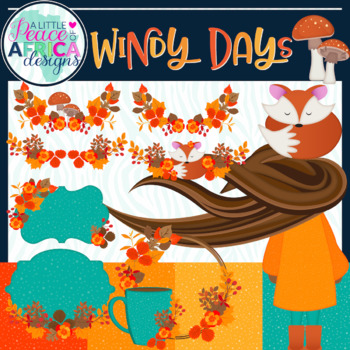 Thanksgiving Clip Art, Digital Paper and Accents by ALPOA Clip Art Designs