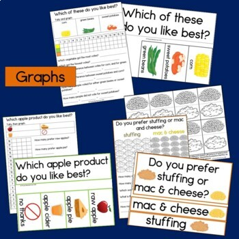 Thanksgiving Bundle: Graphing, Patterns, Reading & Numbers to 100