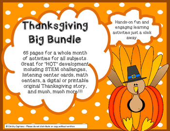 Thanksgiving Critical Thinking 65 pgs math science literacy STEM challenges+
