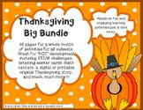 Thanksgiving Critical Thinking 65 pgs math science literac