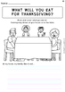 Thanksgiving Bundle Activities and Worksheets
