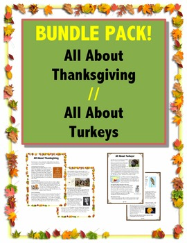 Thanksgiving Bundle // All About Turkeys // All About Thanksgiving