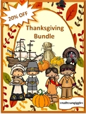 Kindergarten Thanksgiving Math and Literacy Activities BUNDLE Cut and Paste