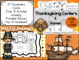 Thanksgiving Activities Bundle! Printable Hat, Bonnet,&Native American Headband!