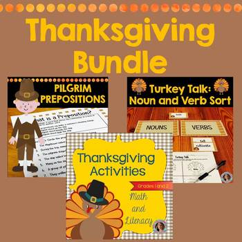 Thanksgiving Activities Literacy and Math Bundle