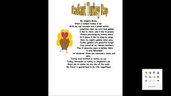 Thanksgiving Literacy Bundle Turkey Raps and More