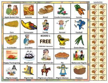 Thanksgiving  Math, Language, Bingo Activities