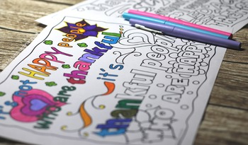 Thanksgiving / Fall Activities and Coloring Pages for teens