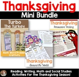 Thanksgiving Bundle: Social Studies, Writing, Reading, and Math for Grades 3-5