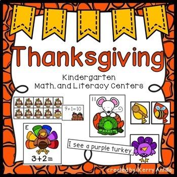 Thanksgiving Bundle: Turkstravaganza and Thanksgiving Math and Literacy Centers