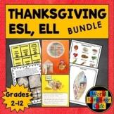 ESL, ELL, EFL, ELD Thanksgiving Lesson Plans, Writing Acti