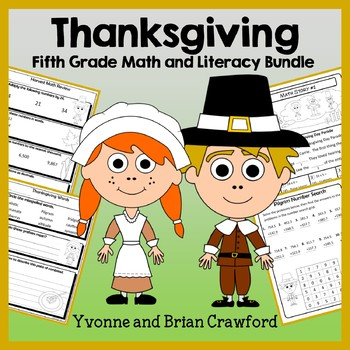 Thanksgiving Bundle for Fifth Grade Endless