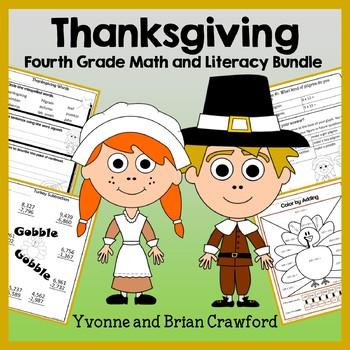 Thanksgiving Bundle for Fourth Grade Endless