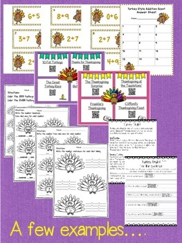Thanksgiving Bundle including Math, Find the Evidence, and Glyphs