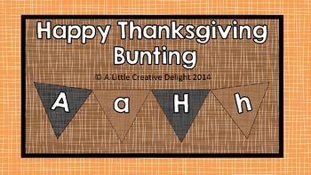 Thanksgiving Bunting