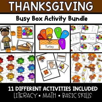 Thanksgiving Busy Boxes **BUNDLE**