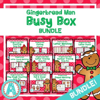 Gingerbread Man Busy Boxes **BUNDLE**