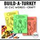 Thanksgiving CVC Craft Turkey Printables