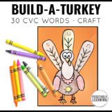 Thanksgiving CVC Craft Turkey Printables