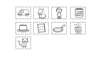 Thanksgiving CVC Cut and Paste Worksheets:  Short Vowel Sorting Activities