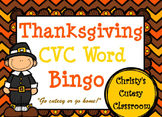 Thanksgiving CVC Word Bingo