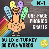 Thanksgiving CVCe Craft Turkey Printables