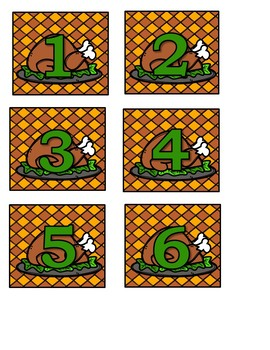 Thanksgiving Calendar Numbers (6 sets) 1-31