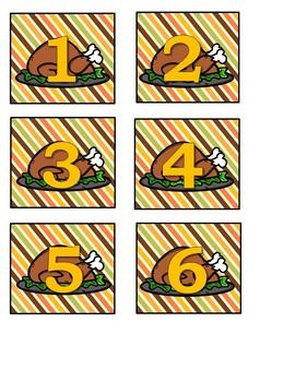 Thanksgiving Calendar Numbers Freebie 1-40