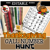 Thanksgiving Call Number Hunt