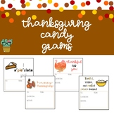 Thanksgiving Candy Grams
