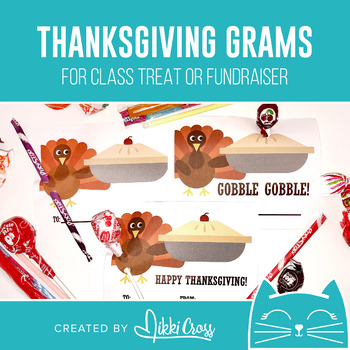 Thanksgiving Candy Grams | Fall and Turkey Grams | Class Treat or Fundraiser
