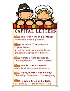 Thanksgiving -Capital Letters