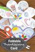 Thanksgiving Craft, Thanksgiving Card for Kids to Make, Thanksgiving Centers