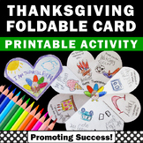 Thanksgiving Craft Centers, Foldable Thanksgiving Card for Kids to Make