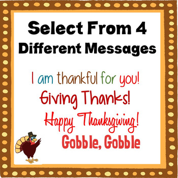 Thanksgiving Card:  Candy-gram (Turkey-gram) Turkey Card with Lollipop