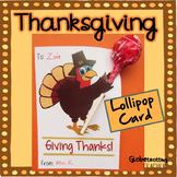 Thanksgiving Cards-Candy Gram (Turkey-gram) with Lollipop