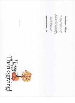 Thanksgiving Card bulletin board extension