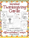 Thanksgiving Cards: Differentiated for ALL your Special Ed Students