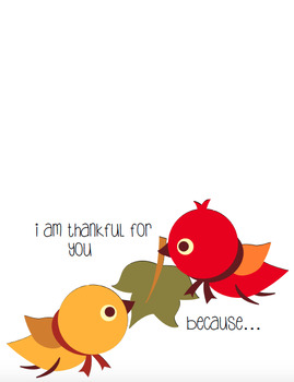 Thanksgiving Cards -- Print and fold!