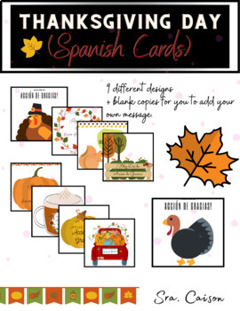 Thanksgiving Cards (Spanish)