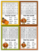 Thanksgiving Cards for Students - Editable in color & black and white!