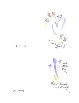 Thanksgiving Cards - original watercolors