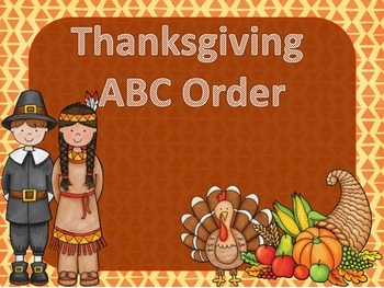 Thanksgiving ABC Order and Cards