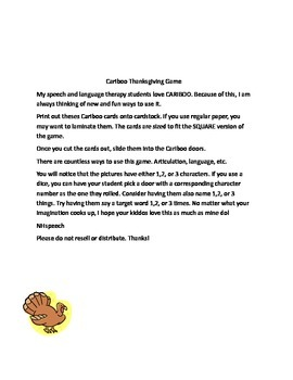 Thanksgiving Cariboo Game