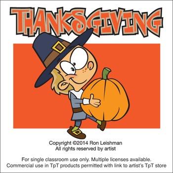 thanksgiving cartoon clipart by ron leishman digital toonage tpt rh teacherspayteachers com free thanksgiving cartoon clipart Cartonn Clip Art Thanksgiving