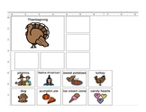 Thanksgiving Categories, Describing, and Preposition for Speech Therapy (autism)