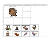 Thanksgiving Categories, Describing, and Preposition for S