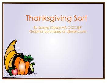 Thanksgiving Categorization